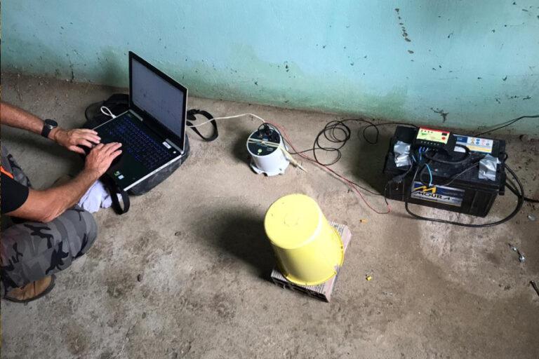 Sismógrafo foi instalado numa localidade de Elísio Medrado (Igea/UFBA)